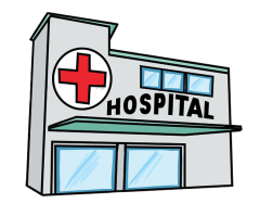 Hospital clipart. Panda free images