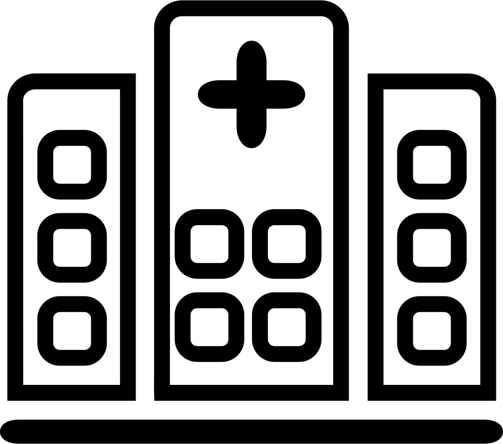 Hospital clipart black and white. Svg png icon free