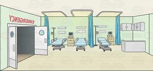 Background . Hospital clipart emergency room