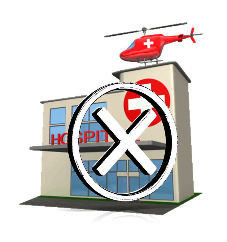 Keeping the high risk. Patient clipart hospital admission