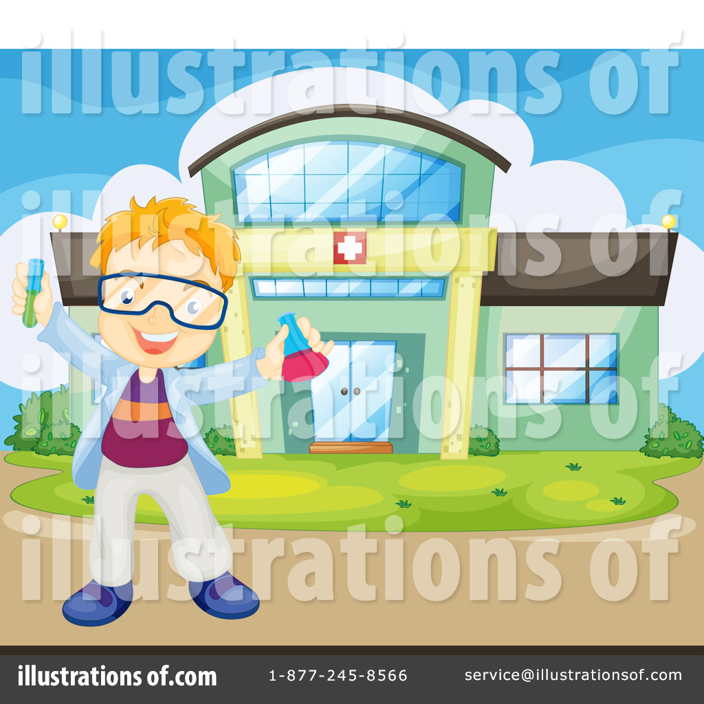 Hospital clipart illustration. By graphics rf