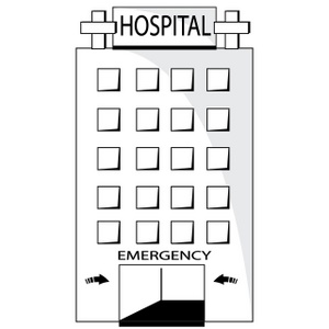 Hospital clipart outline. Free black and white