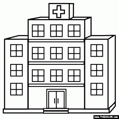 White explore pictures within. Hospital clipart outline