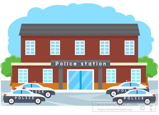 Hospital clipart police station. Legal with cars parked