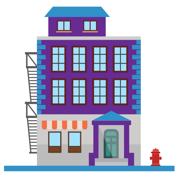 Collection of free establishing. Hospital clipart store building