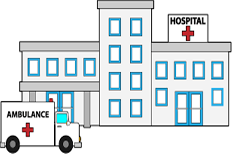 Less docs lesser patients. Hospital clipart
