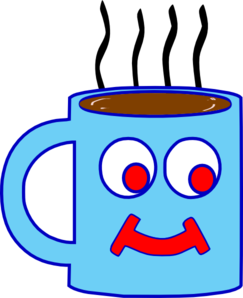 Blue chocolate cup clip. Hot clipart