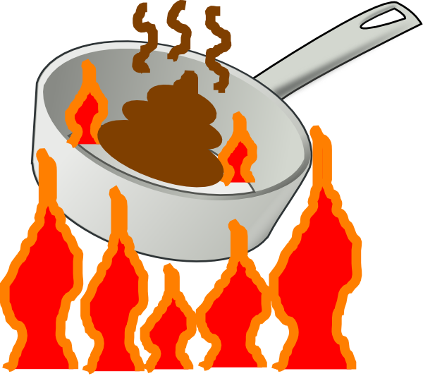 Heat clipart object. The hot skillet clip