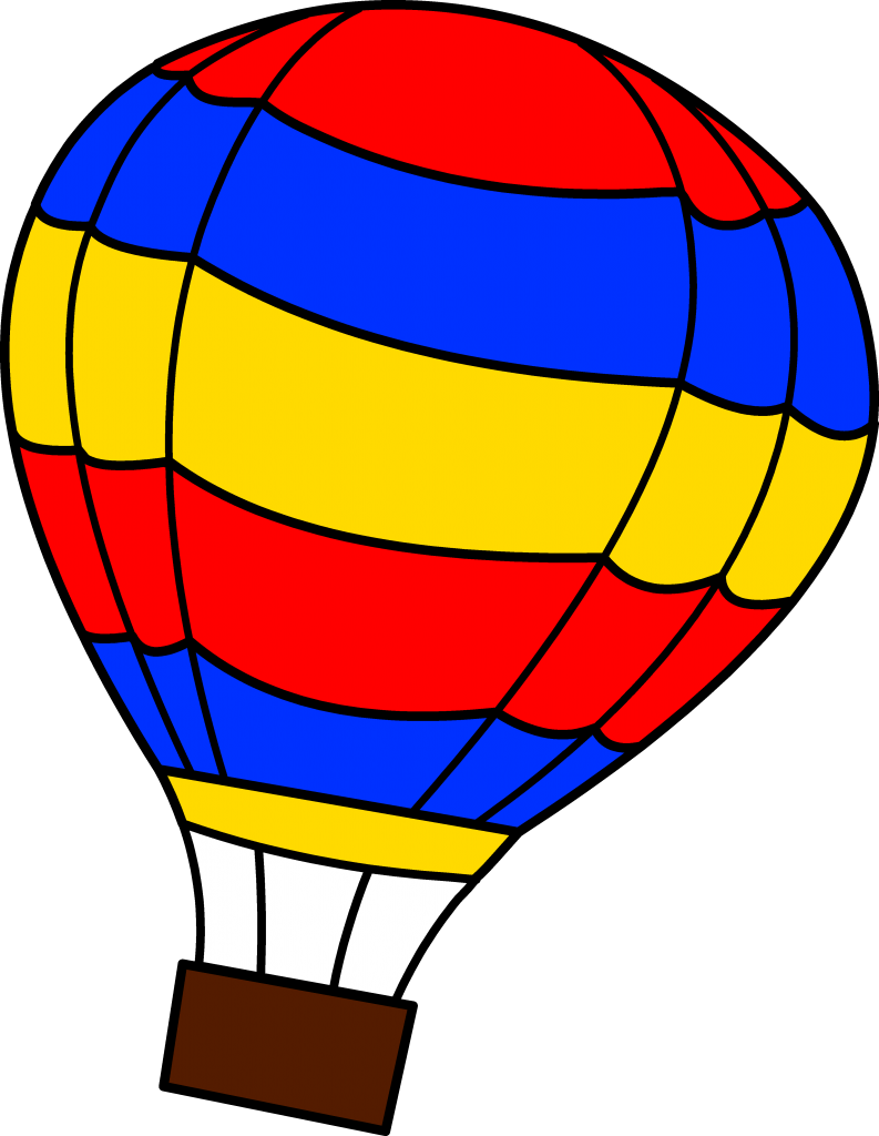 Hot clipart. Air balloon black and