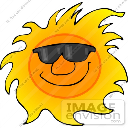 Hot clipart. Weather panda free images