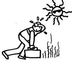 Windy clipart hot weather. Black and white free
