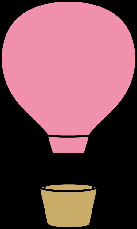 Pink air balloon clip. Hot clipart chair