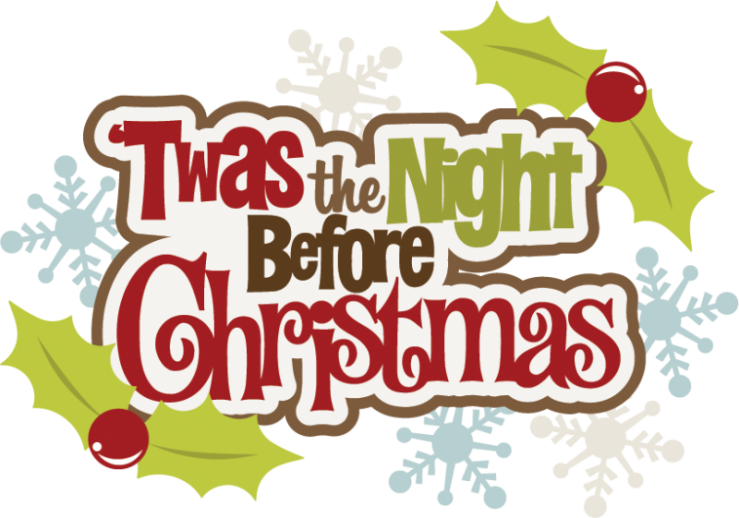 Twas the friday before. Memories clipart christmas