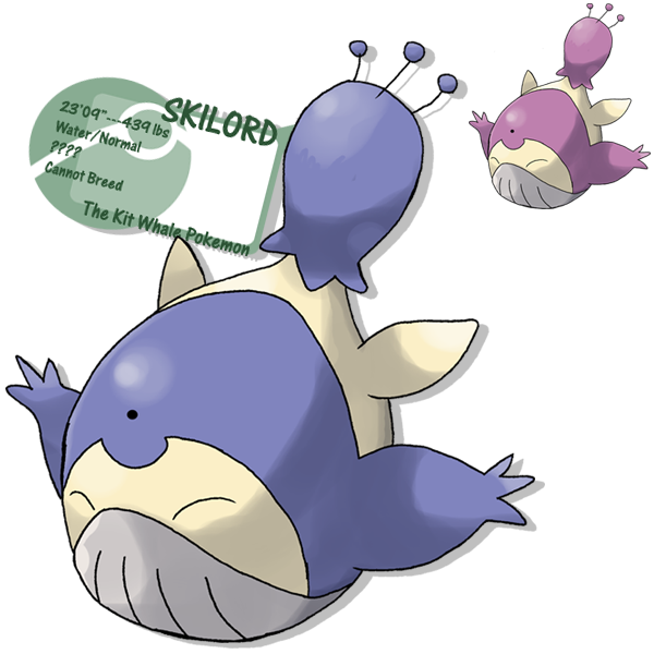 Skitty and wailord action. Hot clipart comparison adjective