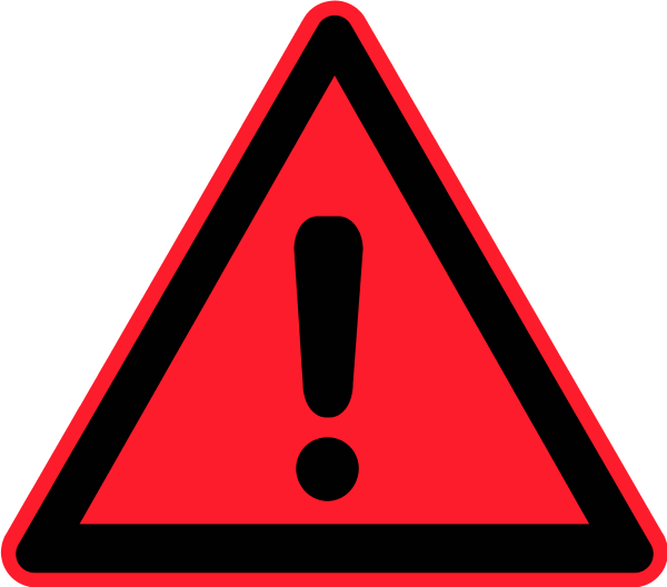 Red sign clip art. Caution clipart mark