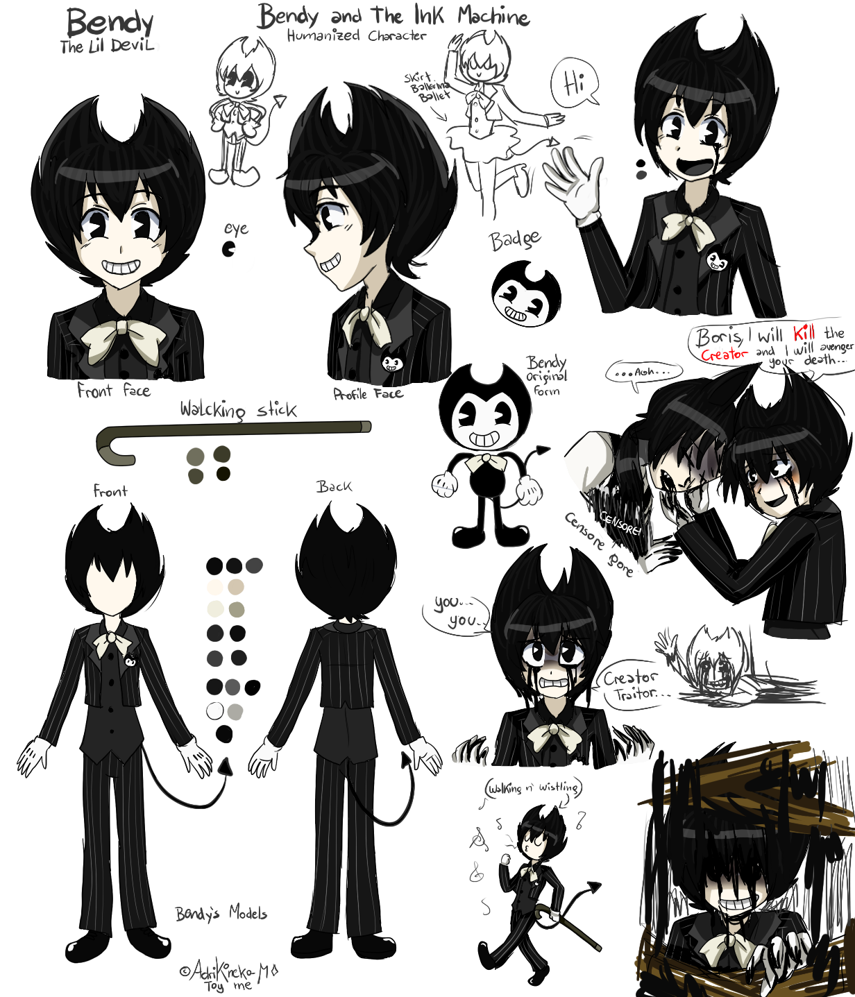Bendy and the ink. Hot clipart hace