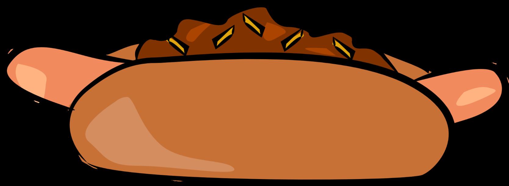 Hot con carne cheese. Hotdog clipart chili dog