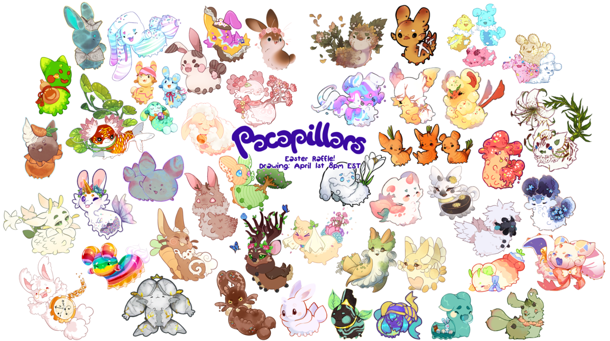Pacadvent k easter reveal. Raffle clipart spring