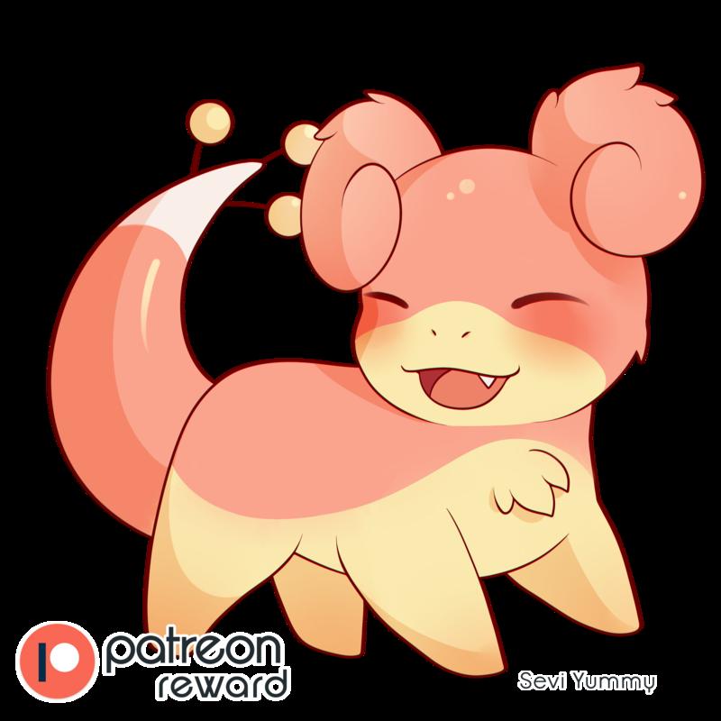 Patreon reward for angeloshadows. Marshmallow clipart super cute cute