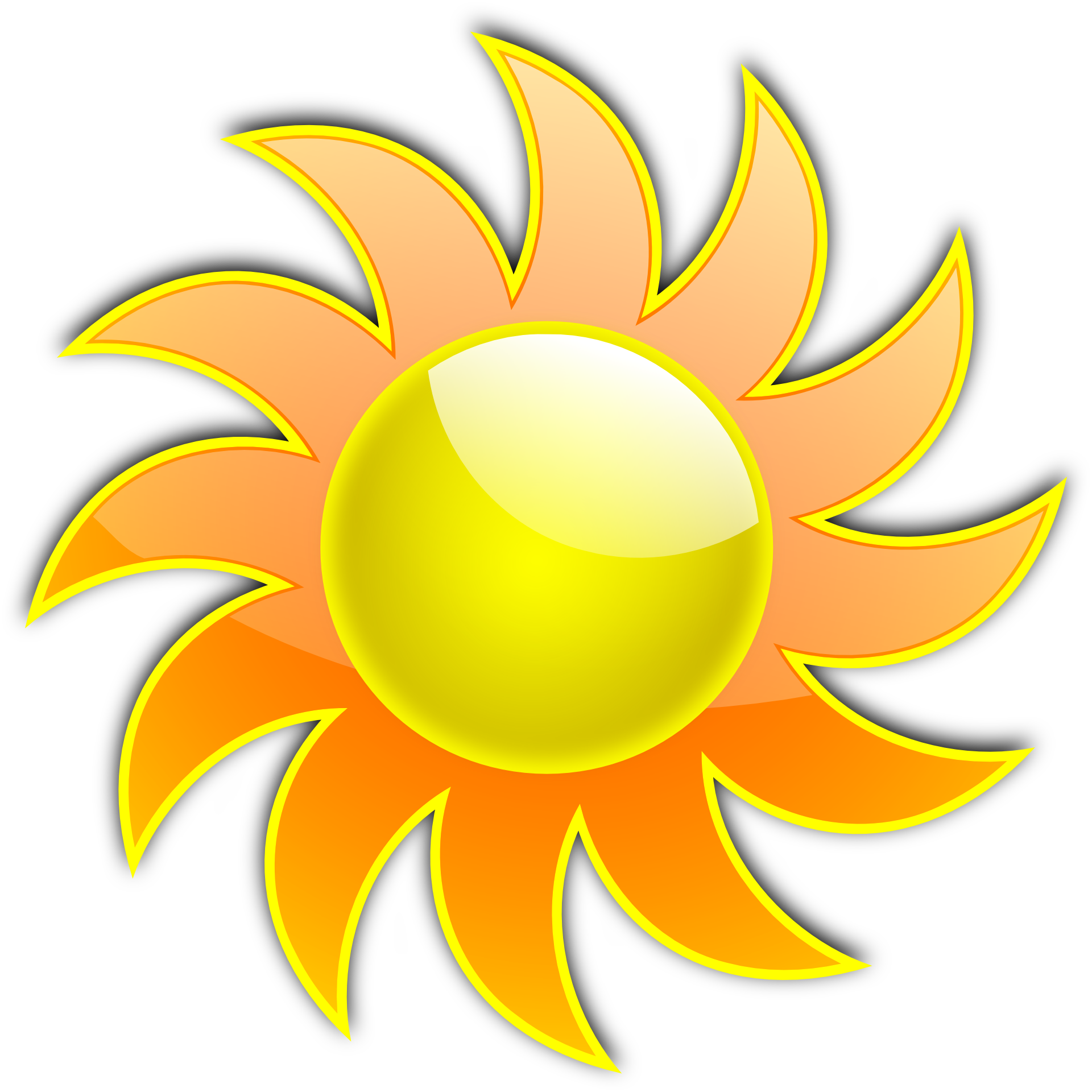 Hot clipart mild weather. Drawing of yellow sun