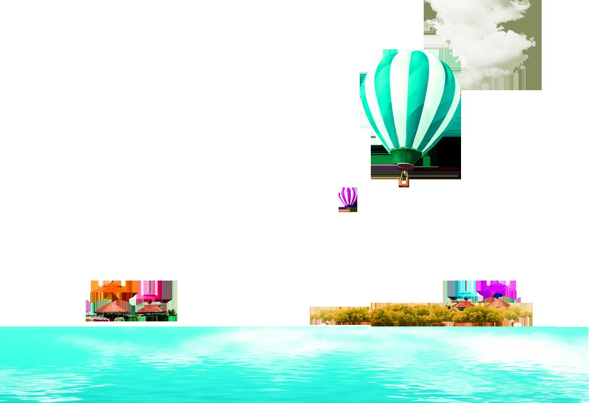 Balloon clip art beach. Hot clipart summer season