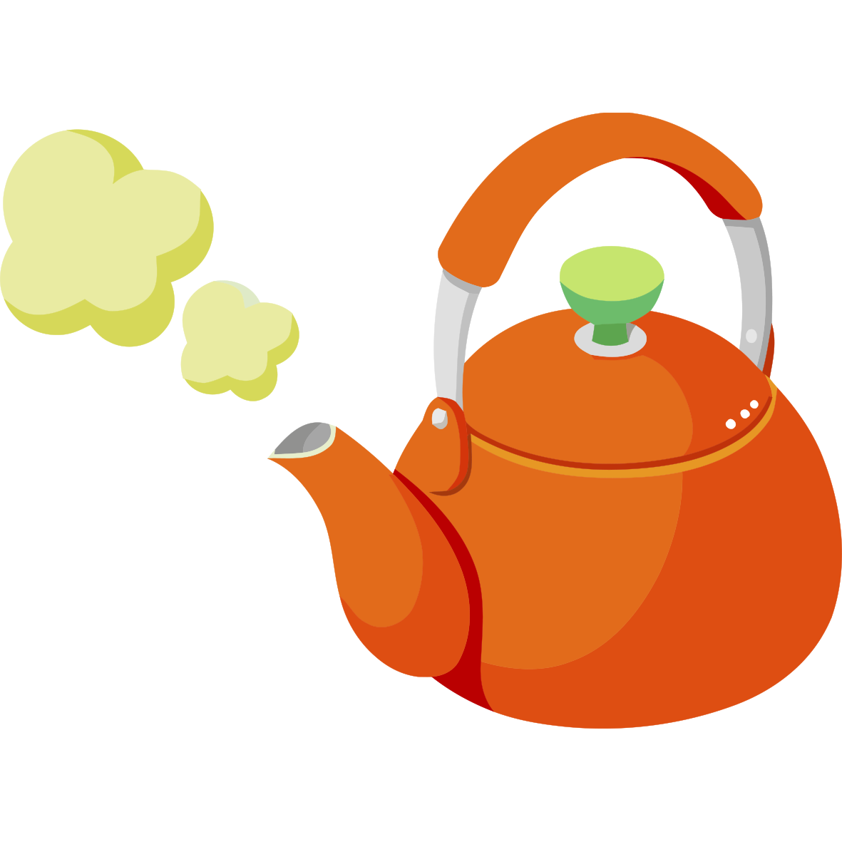 Orange clipart teapot. Kettle clip art a