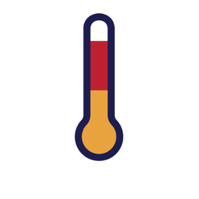 Projectboard with compressing air. Hot clipart temperature increase