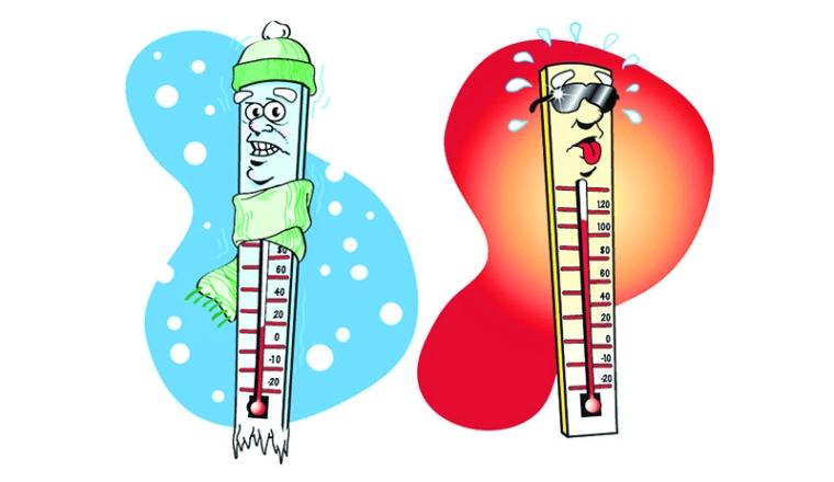 Hot clipart temperature increase. Fluctuations in mumbai causes