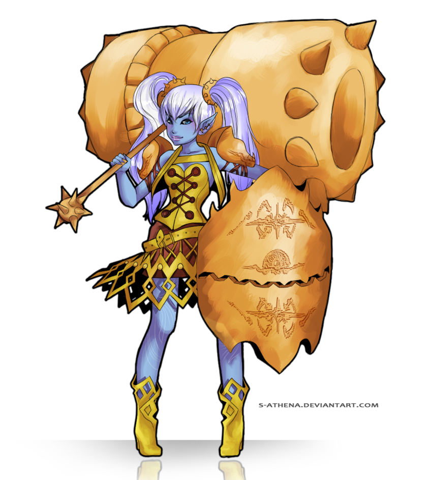 Poppy lol personified by. Hot clipart understatement