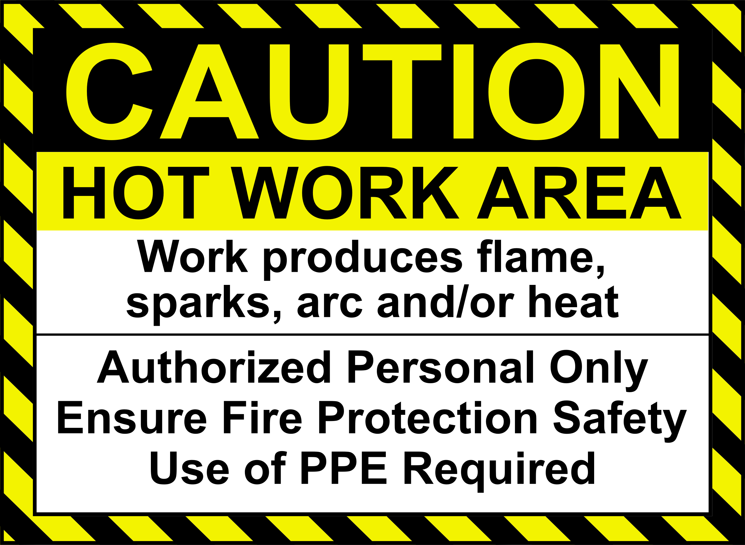 Welding clipart sparks. Hot work sign big