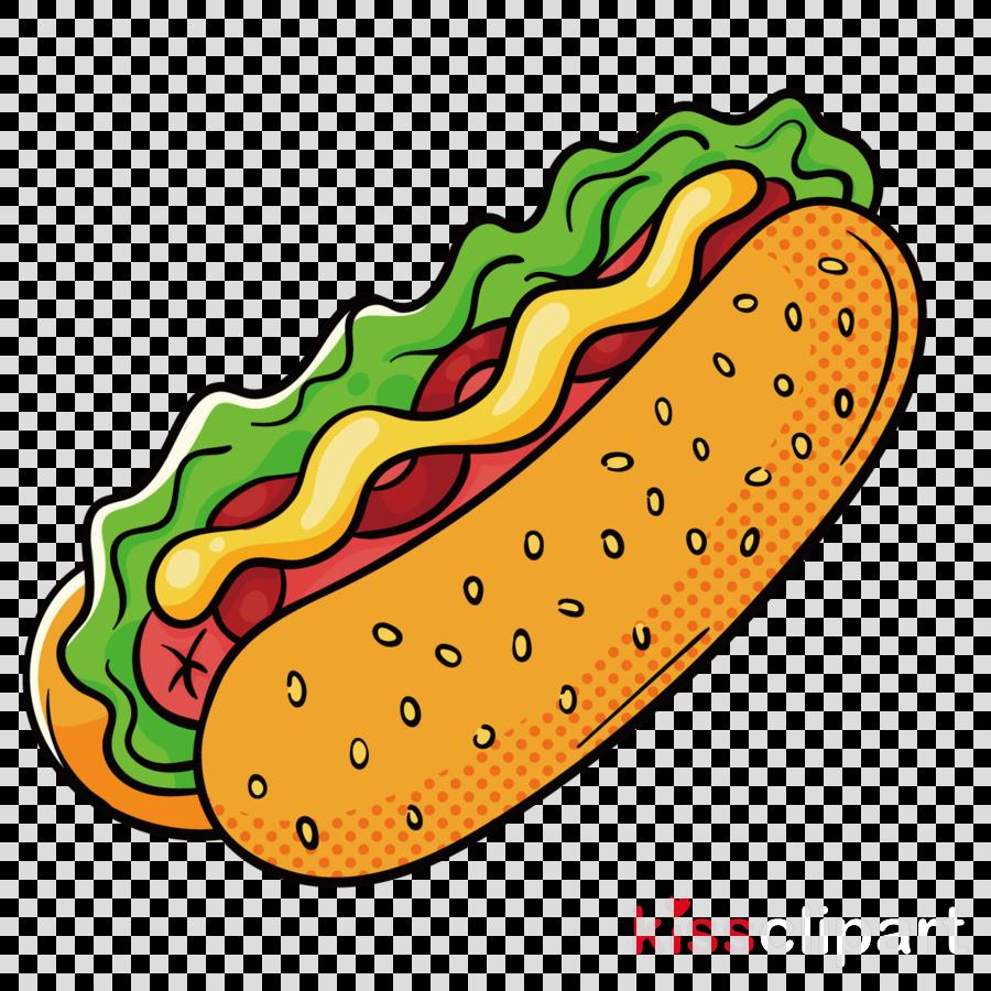 Hotdog clipart american food. Hamburger cartoon illustration