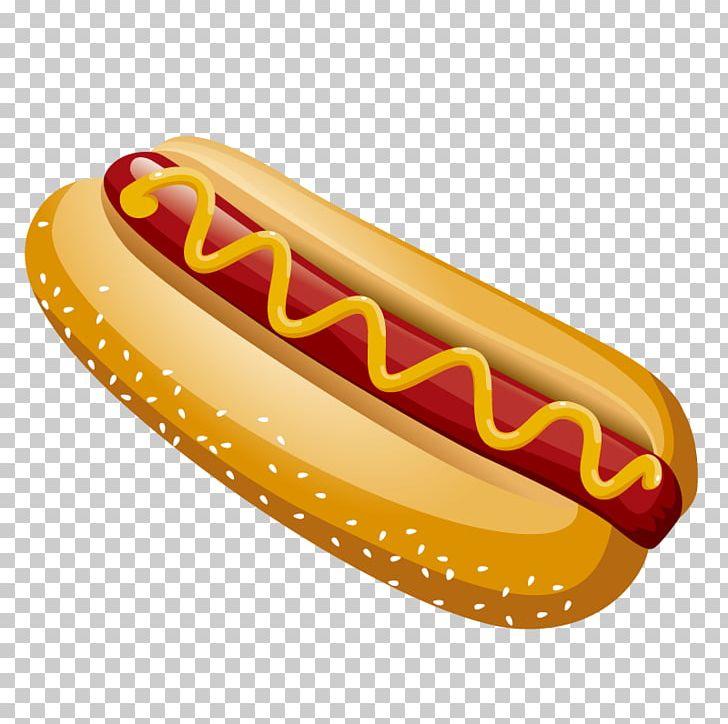 Hot dog fast illustration. Hotdog clipart american food
