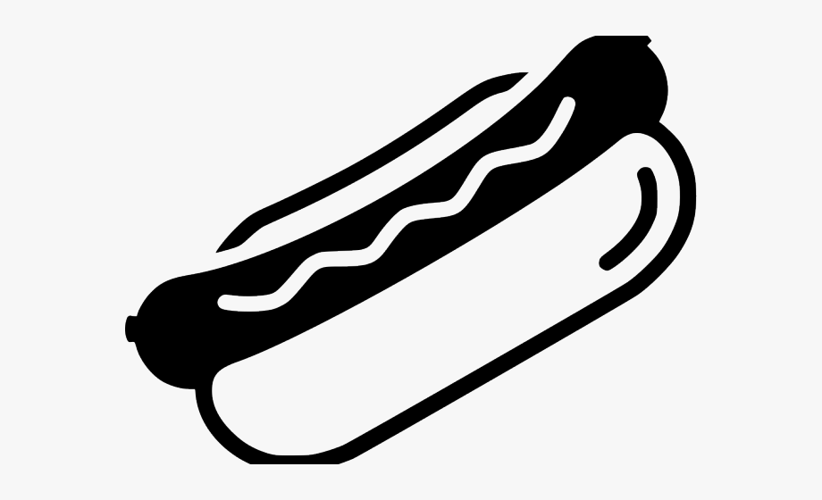 Hotdog clipart black and white. Hot dogs dog silueta