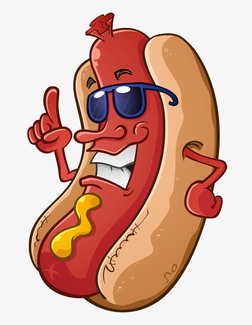 Hotdog clipart chili dog. Hot cartoon royalty free