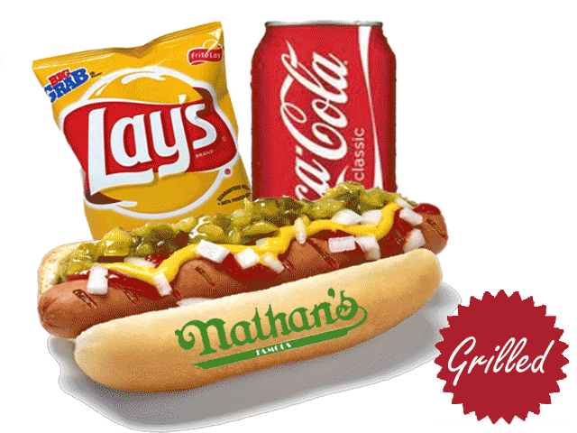 Hotdog clipart chip drink. Wombo what the heck