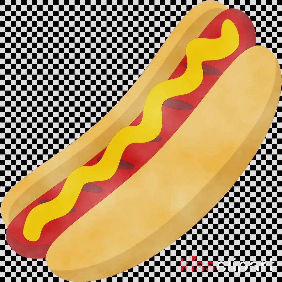Hotdog clipart fast food. Yellow hot dog banana