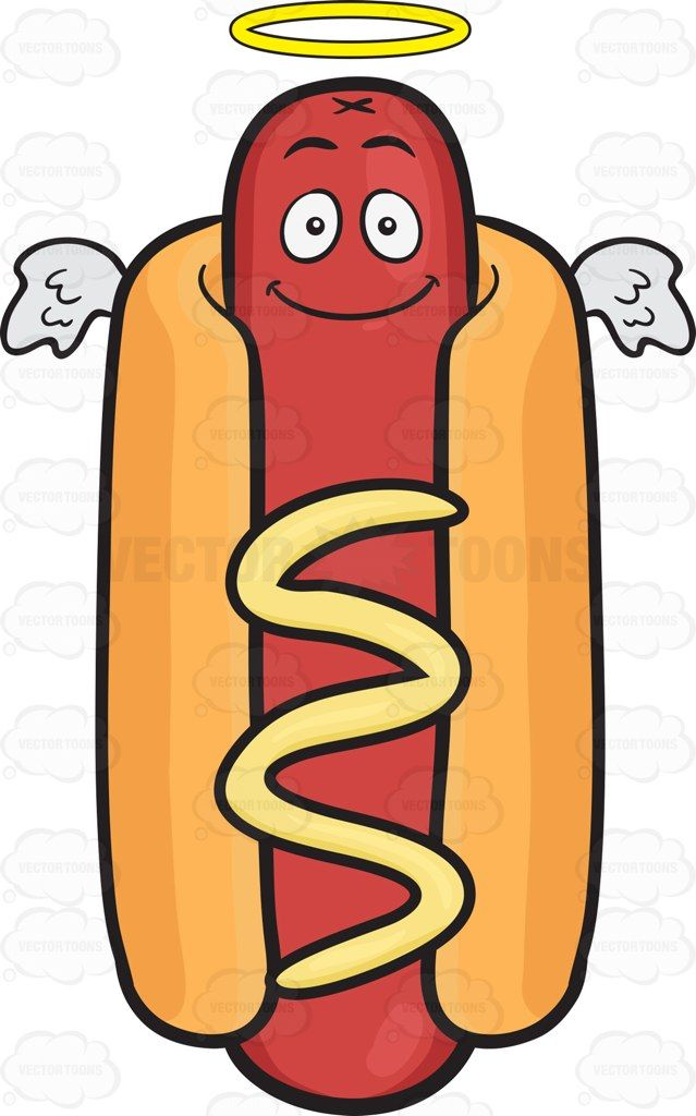 Hotdog clipart frank. Smiling hot dog with