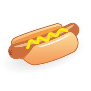 Hot dog with clipartandscrap. Hotdog clipart mustard