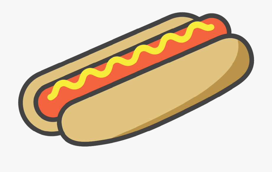 Hot dog with shirt. Hotdog clipart mustard