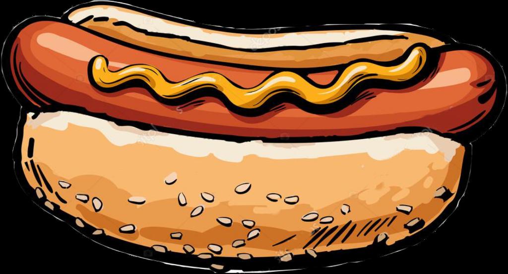 Hotdog clipart mustard. Sticker hot dog ketchup