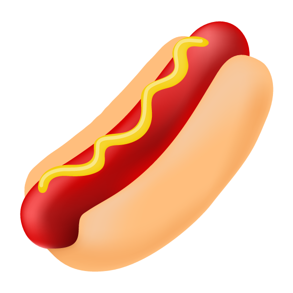 red clipart hotdog #140638224