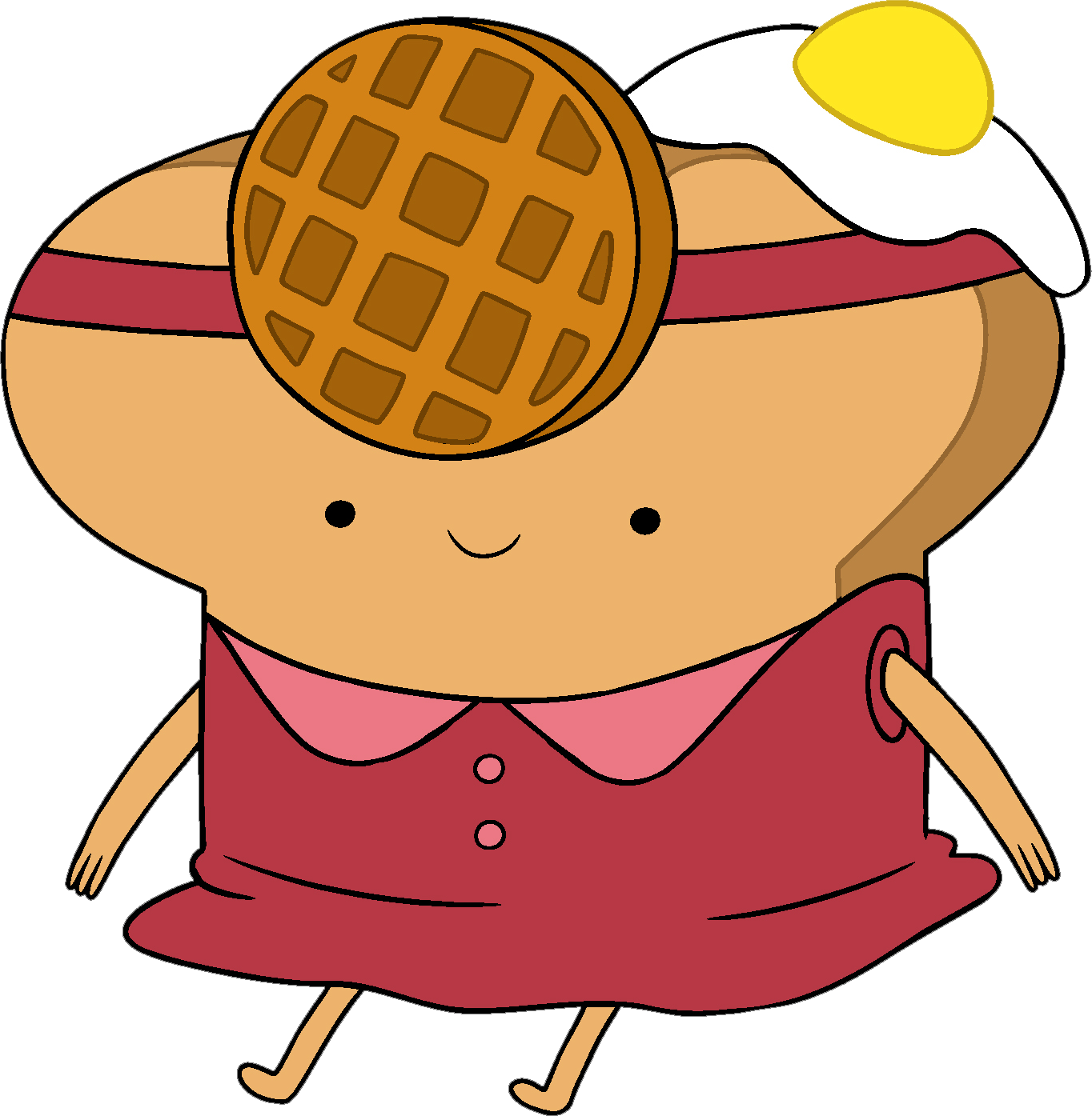 Princesses adventure time character. Waffle clipart toaster