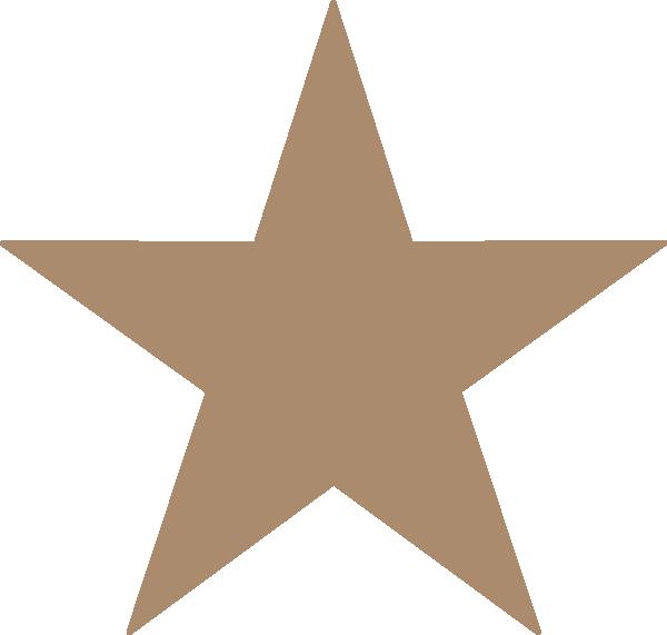 Stars vector png. Light brown star clip