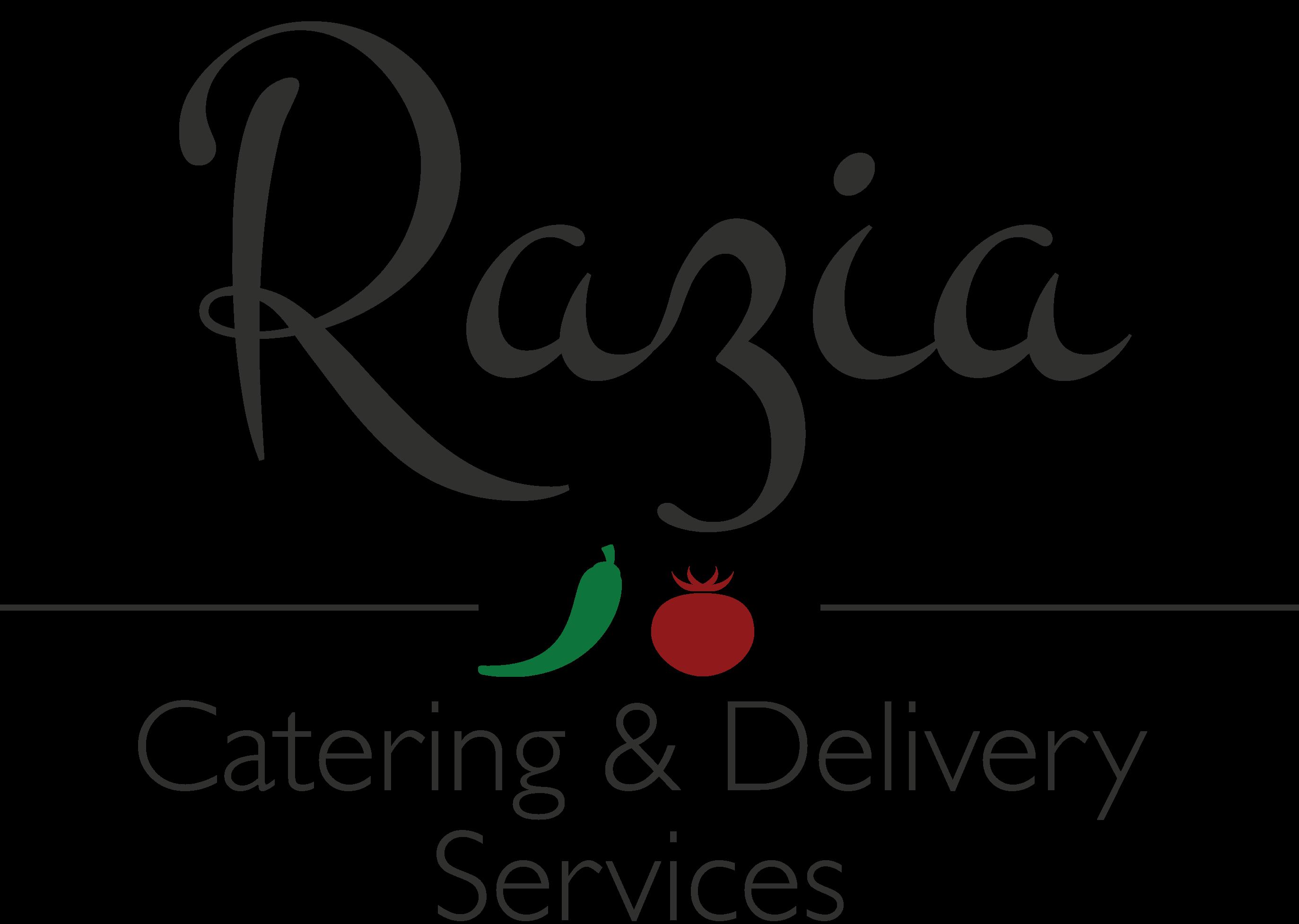 Menu clipart caterer. Razia catering logo design