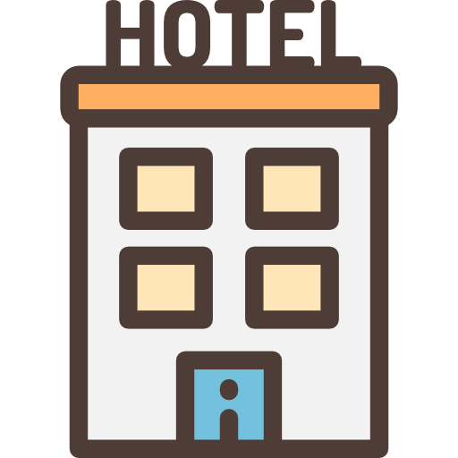 Black and white images. Hotel clipart clip art