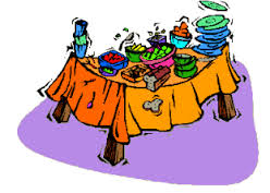 Dinner clip art library. Luncheon clipart buffet table