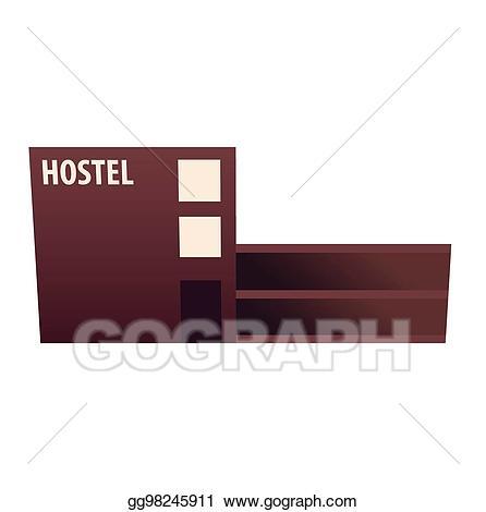 Eps illustration guest house. Hotel clipart hostel building