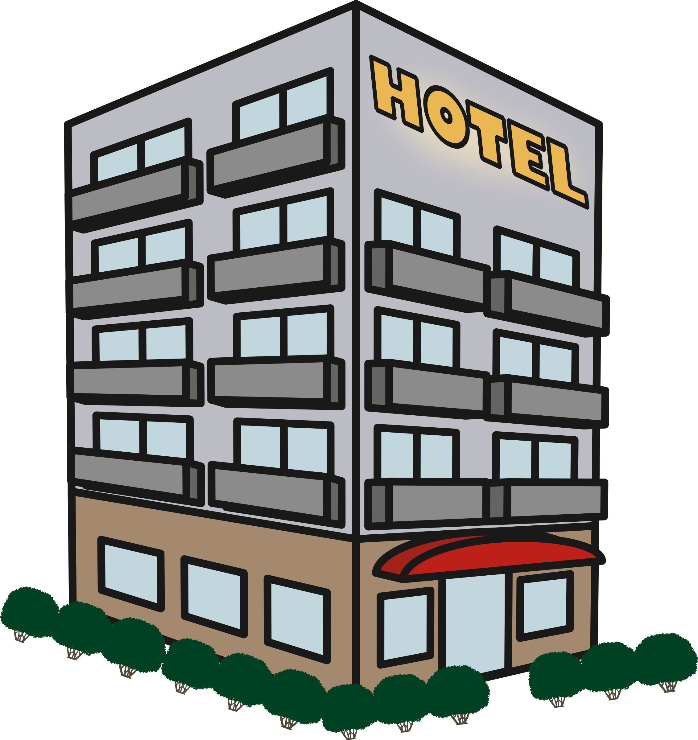 Images gallery for free. Hotel clipart hotel building