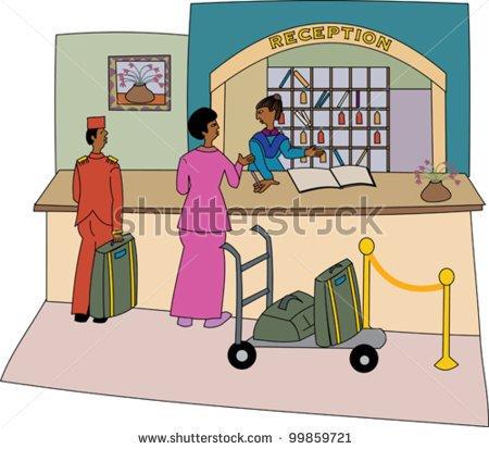 Portal . Hotel clipart hotel receptionist