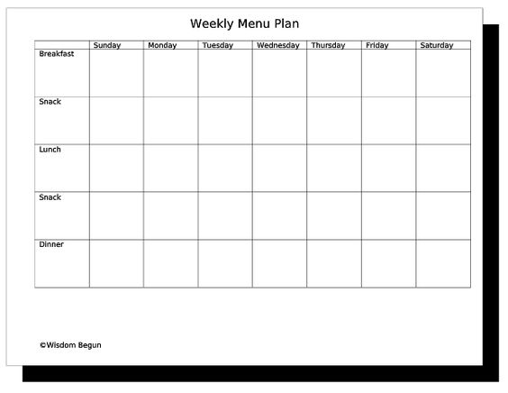 Free meal plan cliparts. Hotel clipart menu planning